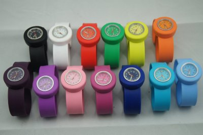 Silicone watch<br> band wristwatch<br>with SLAP