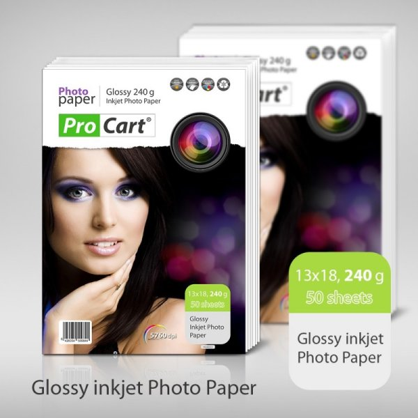 High Glossy Photo<br> Paper 240g 13x18<br>50 sheets