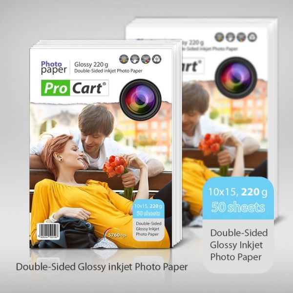 High Glossy 10x15<br> Dual Side Photo<br>Paper 220 g 50 p