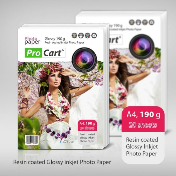 RC High Glossy<br>Photo Paper 190g A4