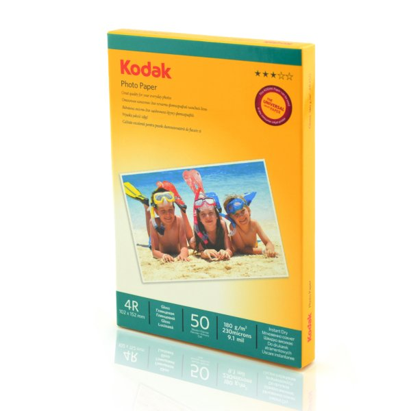Kodak Photo Paper<br> 180g High Glossy<br>50 sheets 4R