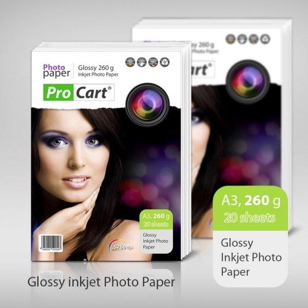 High Glossy Photo<br>Paper A3 260g 20 pcs