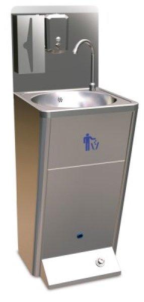 Standwaschbecken<br> Fußbedienung<br>Edelstahl Handwaschb