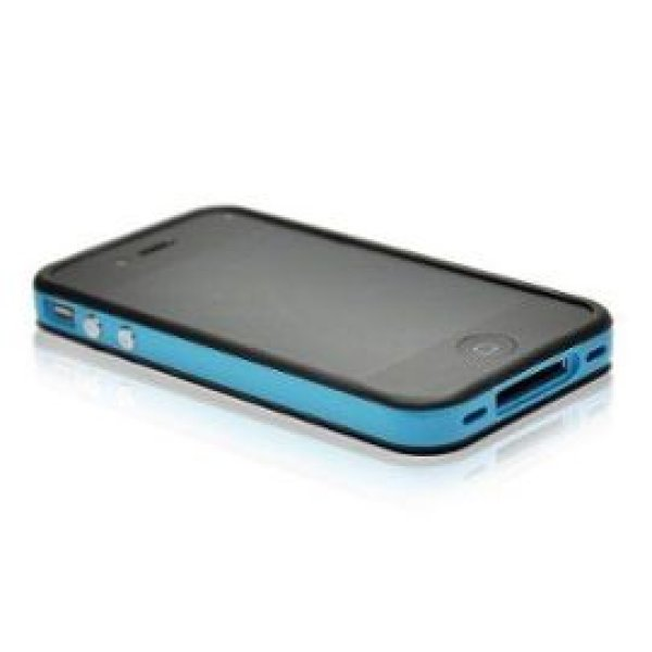 BUMPER COVER<br> IPHONE 4G/4S -<br>BLACK AND BLUE