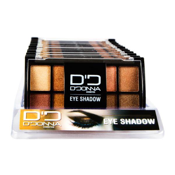 Display 12<br> Eyeshadow Palette<br>Brown