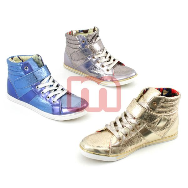 Casual Shoes<br> Sneaker Boots<br>gloss finish