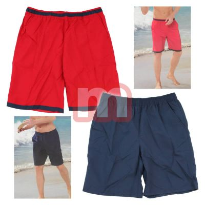 Men's Swimming Shorts Beach Short Pants Red Bl