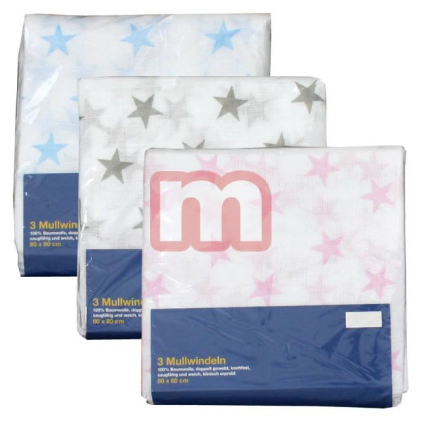 Mull diapers 80 x<br>80 cm 100% cotton