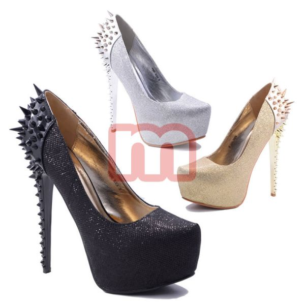 Ladies Glitter<br> High Heels Pumps<br>Shoes