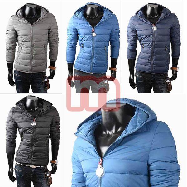 Mężczyźni pikowane<br> kurtki zimowe z<br>kapturem gr. M-