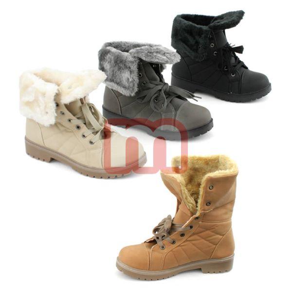Damen Fell Herbst<br> Winter Stiefel<br>Schuhe Boots