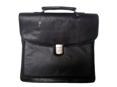 Black leather briefcase / document bag