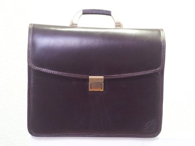 Brown Leather<br>Briefcase Bag
