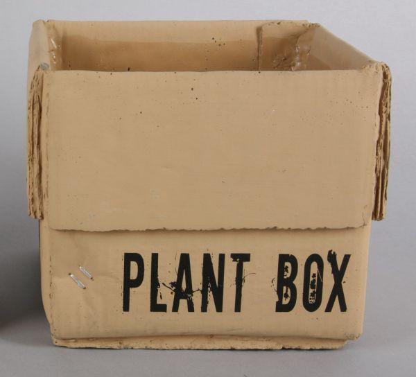 Plant pot -<br> cardboard Look /<br>concrete
