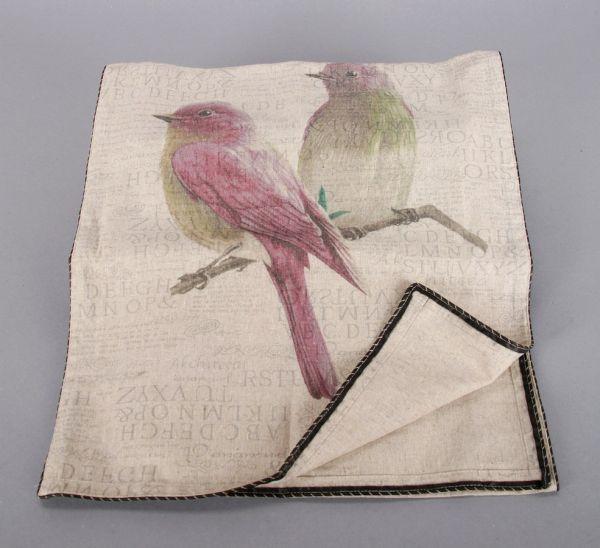 Tischläufer Vogel<br> aus Stoff,<br>Größe40x180 cm