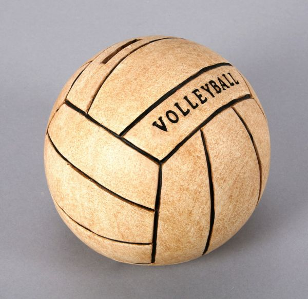 Moneybox<br> Volleyball<br>ceramic, size 15 cm