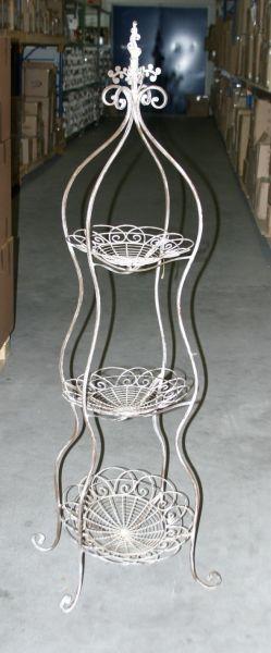 Blumenständer x 3<br> aus Metall, Größe<br>166x65 cm