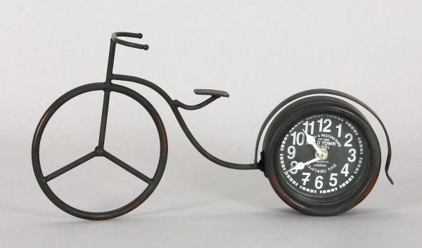 Clock - bicycle<br> made of metal,<br>size 20x37 cm