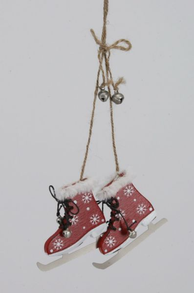 Ice skates made of<br> wood, size 8 cm,<br>for hanging