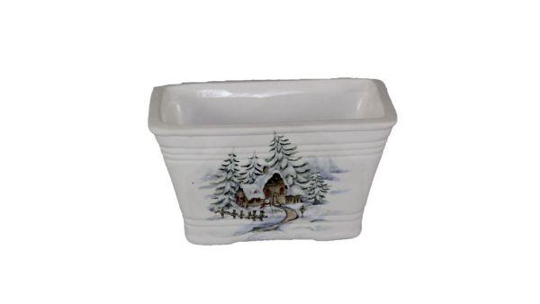 Jardiniere aus<br> Keramik, Größe<br>9x16x10 cm