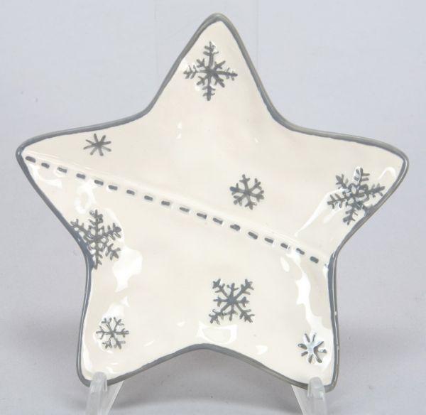 Sternteller aus<br>Keramik, Größe 13 cm