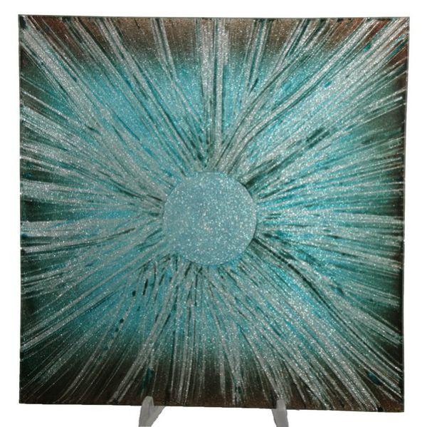 Teller aus Glas,<br>Größe 15x15 cm