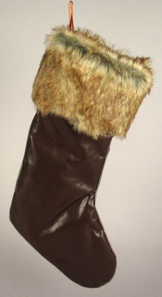 Karácsonyi csizma<br> / bőrhatású,<br>mérete 45 cm