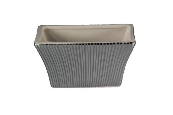 Jardiniere aus<br> Keramik, Größe<br>9,5x18x10,5 cm