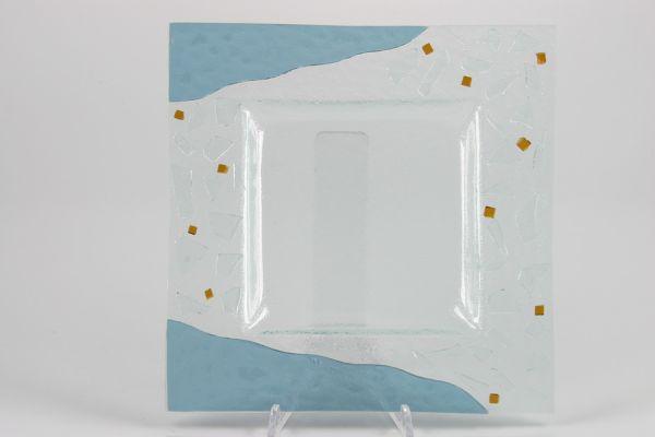 GLASTELLER, 25x25 cm