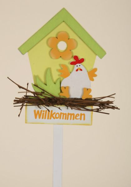 Dekostecker BIRD<br> HOUSE / WOOD, Dim.<br>= 38 cm