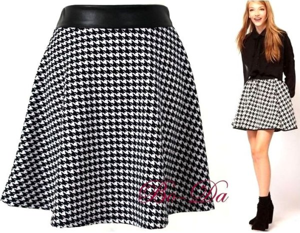 flared skirt pepitka
