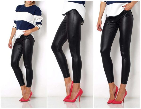Leggings tube<br>leather pockets