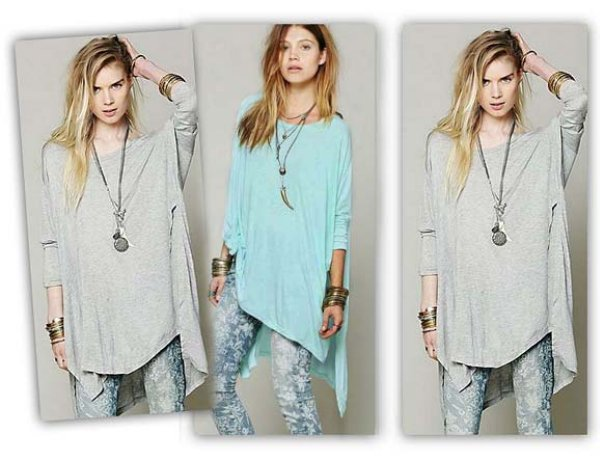 ASYMMETRICAL TUNIC<br>BLOUSE OVERSIZE