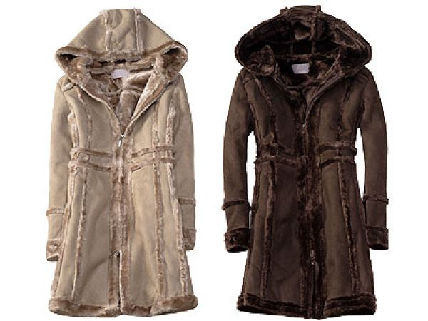 FASHIONABLE HOOD<br>sheepskin FADER