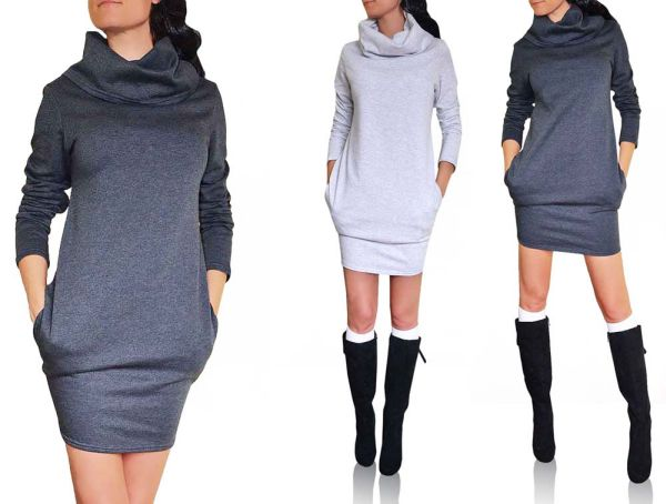 TUBE DRESS WITH<br> POCKETS tracksuits<br>CHIMNEY