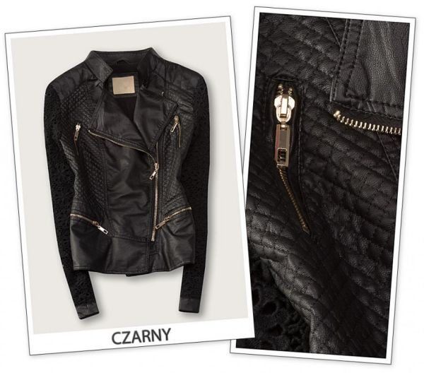 Quilted biker<br> jacket JACKET<br>LEATHER LACE