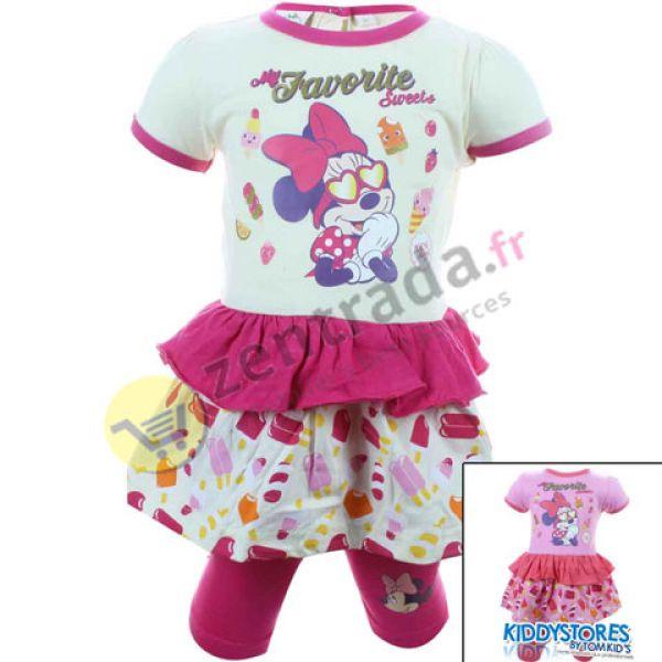 Disney legginsy w<br> sukni dziewczyna<br>Myszka Minnie.