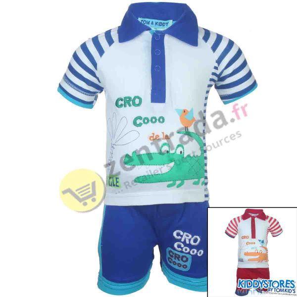 Polo Shorts mit<br>einem Baby.