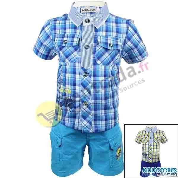 Bermuda with baby<br>boy shirt