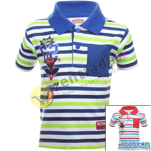 Spiderman polo<br> with short sleeves<br>boy.