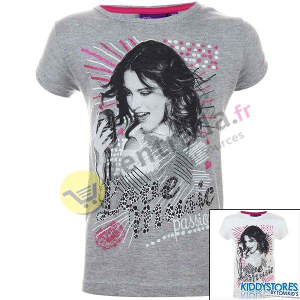 Disney Violetta<br> T-shirt avec des<br>manches courtes.