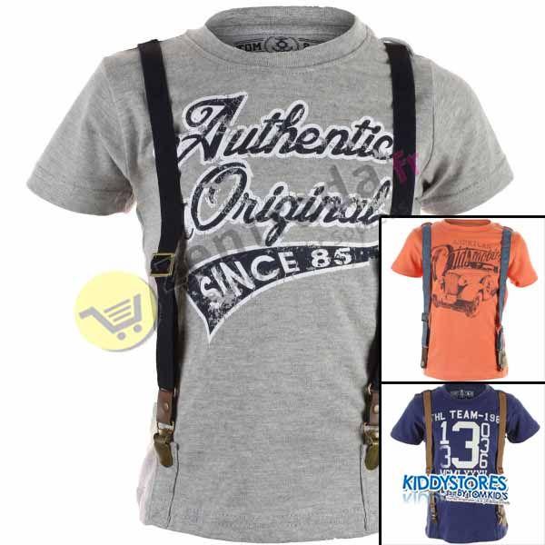 Wholesale T-shirt<br>met jongen bretels.