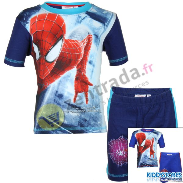 Spiderman T-shirt<br>with shorts boy.
