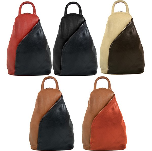 Rear bag, leather bag