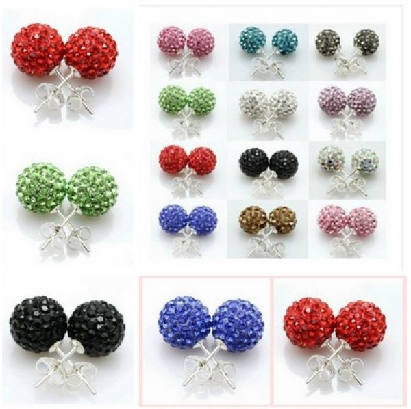 Shamballa earrings<br> penetration probe<br>with 30 diffe