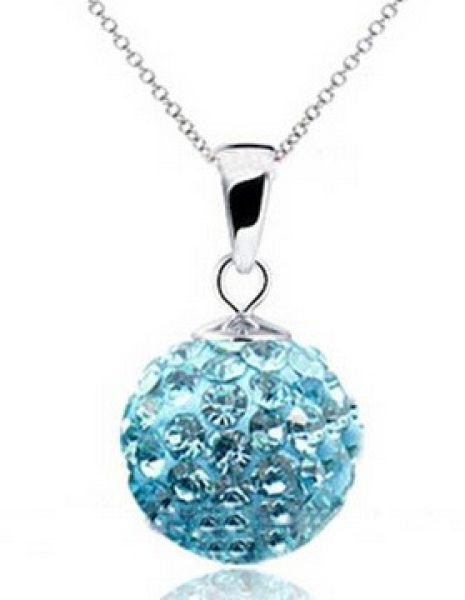 Shamballa necklace<br> pendant 30<br>different colors!