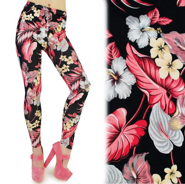 Leggins, FANTASY<br>FLOWERS, 3D EFFECT