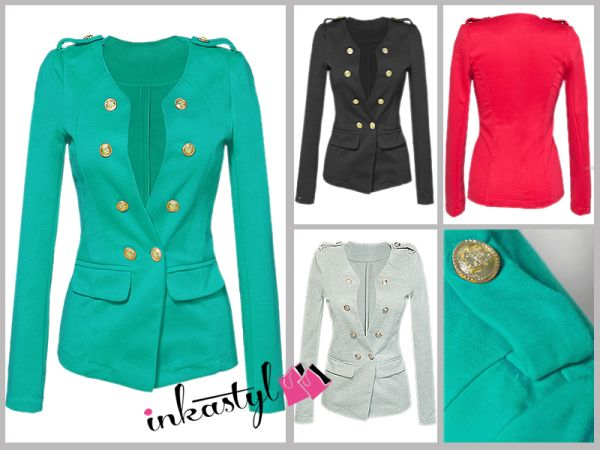 JACKET, NAVY<br> BUTTONS chanelka<br>epaulets, MIX