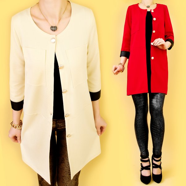 LONG COAT, JACKET,<br>BLAZER, EITH BUTTONS