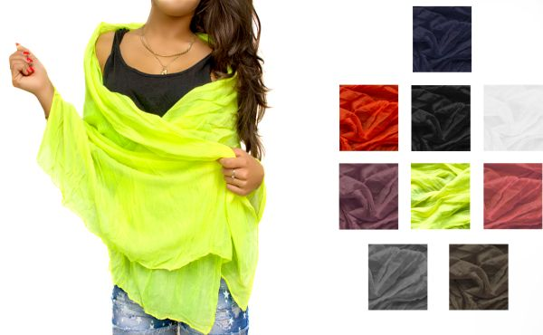 SMOOTH LONG SCARF,<br> shawl, scarf,<br>COLORS MIX